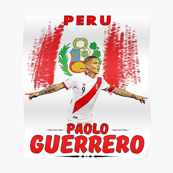 Paolo Guerrero Peru Camiseta Póster