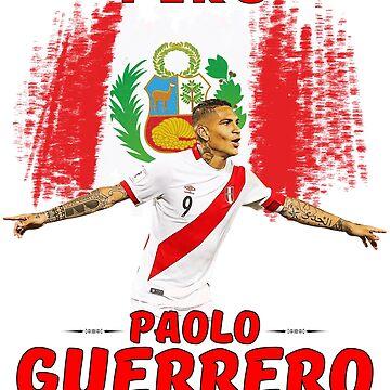 Paolo Guerrero Peru Camiseta de Tropicalis