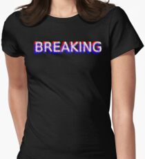 Breaking news (01) Women's Fitted T-Shirt