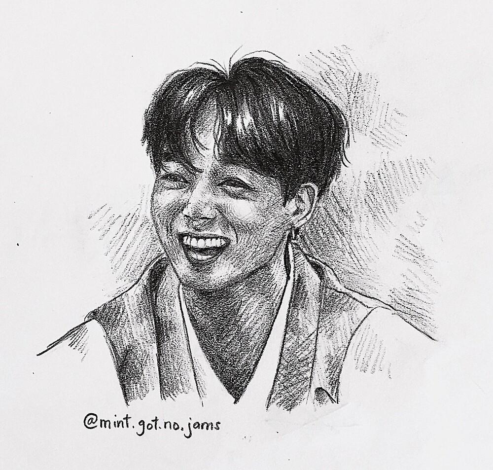 jungkook's precious smile by Mint-Got-No-Jam