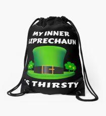 My Inner Leprechaun Is Thirsty Drawstring Bag