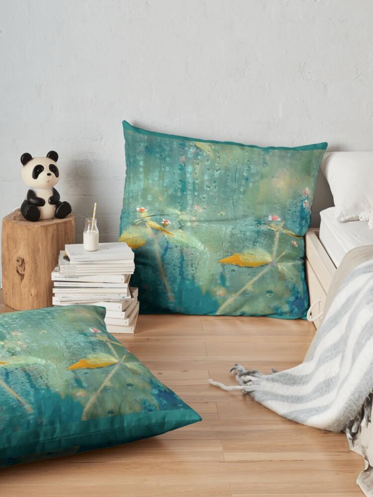 Alternate view of Azure Gold Beauty Floor Pillow