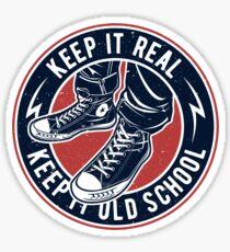 Keep it Real | Converse | Old School | Vintage  Sticker
