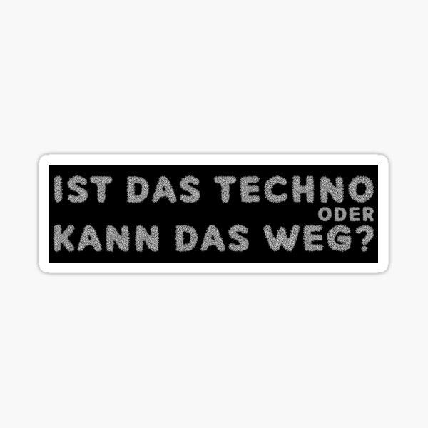 Autocollant techno Sticker