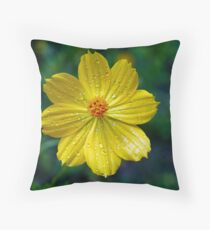 Yellow Nectar Throw Pillow