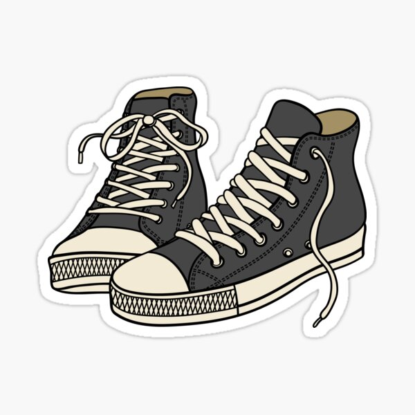 Grey Converse Sticker
