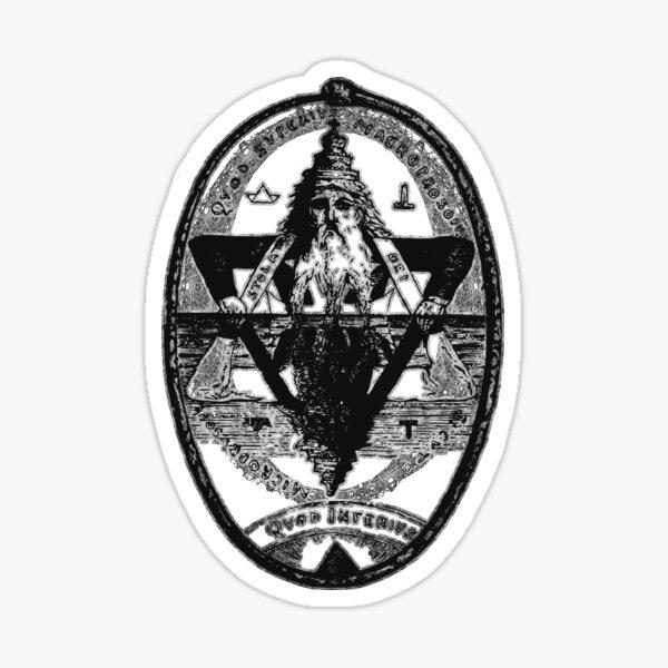 Hermes Trismegistus as Above so Below Hermetic Axiom Sticker