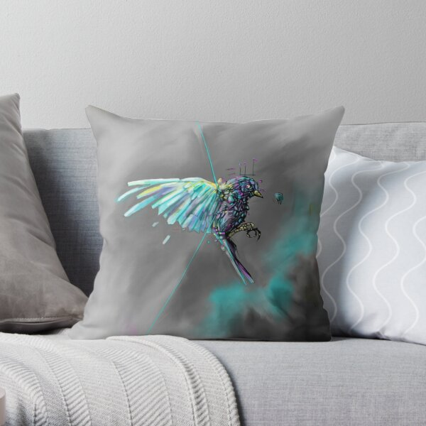 Bird Flies Throw Pillow