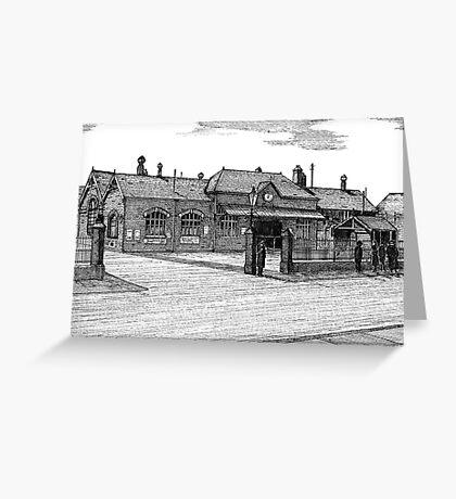172 - BLYTH RAILWAY STATION - DAVE EDWARDS - INK - 1990 Greeting Card
