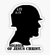2TIMOTHY 2:3 SOLDIER OF JESUS CHRIST Sticker
