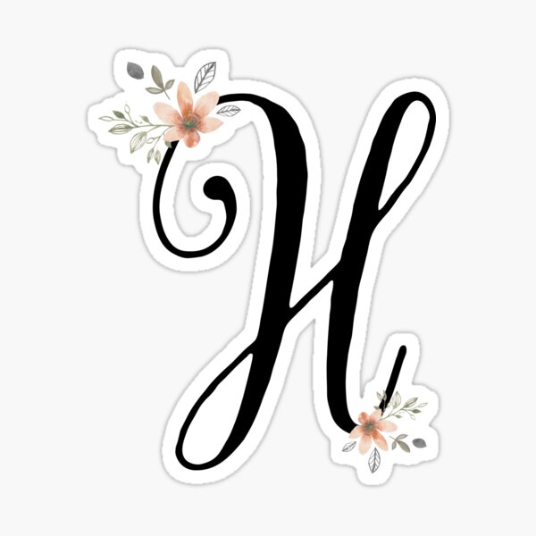Monogram H Sticker