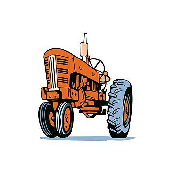Vintage Farm Tractor Retro by retrovectors