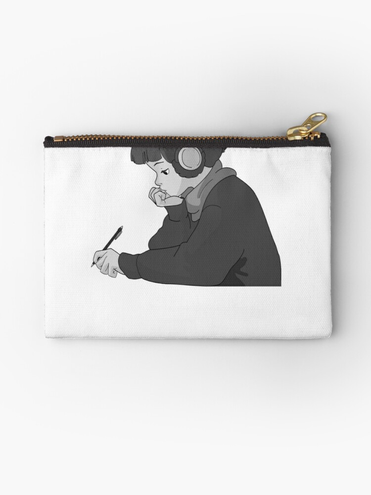 'lo fi hip hop radio girl ' Zipper Pouch by Cosmox