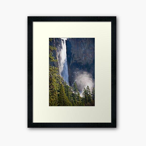 Bridal Veil Falls Yosemite Framed Art Print