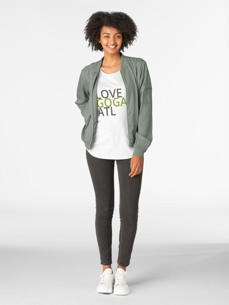 Alternate view of LOVE GOGA ATL  Premium Scoop T-Shirt