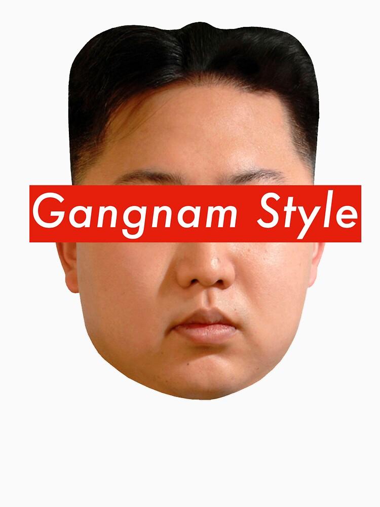 """""""Kim Jong-un & Gangnam Style Meme"""" T-shirt by Mairou"""
