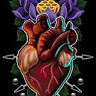 Sacred Heart & Lotus by Atom Godwin