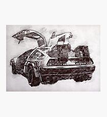 Time Machine - Tech/Sketch Photographic Print