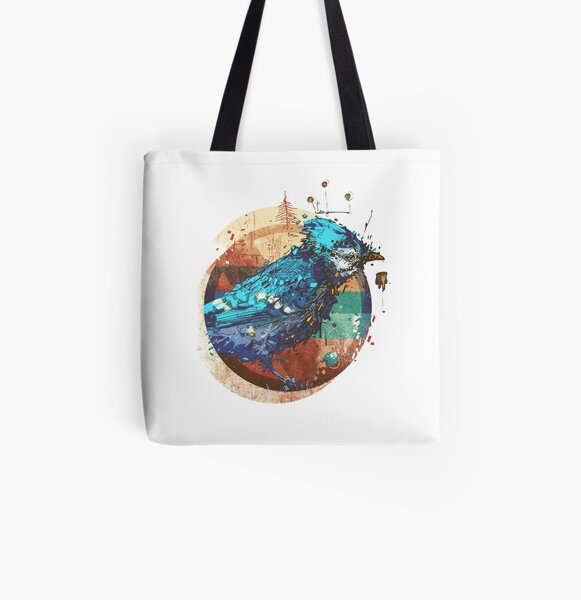 Blue Jay All Over Print Tote Bag
