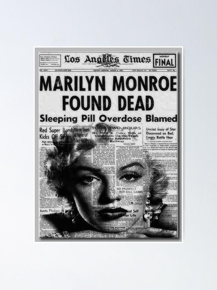 MARILYN MONROE DIES POSTER PRINT