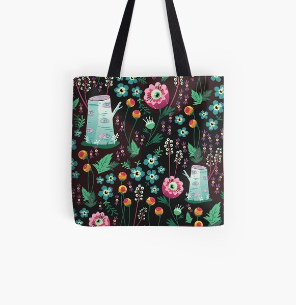 Eyeball Garden  All Over Print Tote Bag