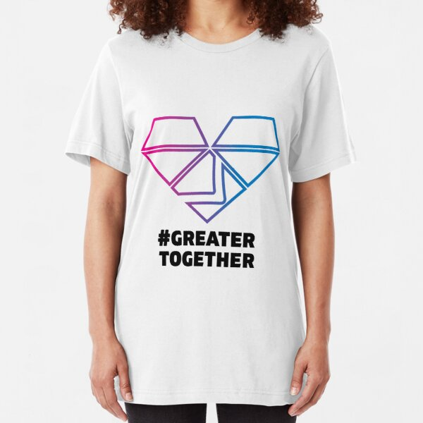 Bisexual Pride - #GreaterTogether  Slim Fit T-Shirt