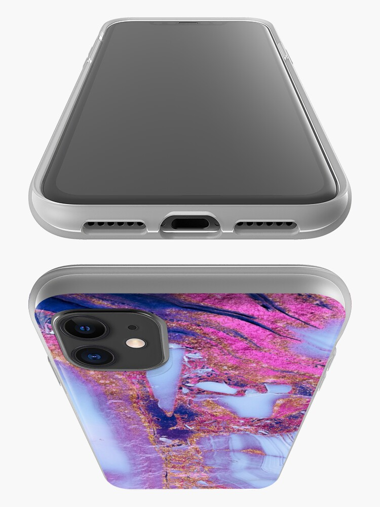 Alternate view of Elegant marbled purple and blue gem stone  iPhone Case & Cover