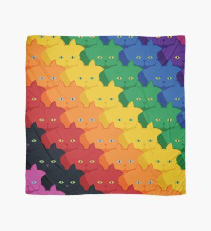 Rainbow Diagonal Jumbo Stripe Cattern [Cat Pattern] Scarf