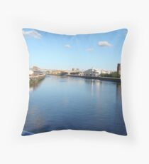 East up the River Clyde Throw Pillow