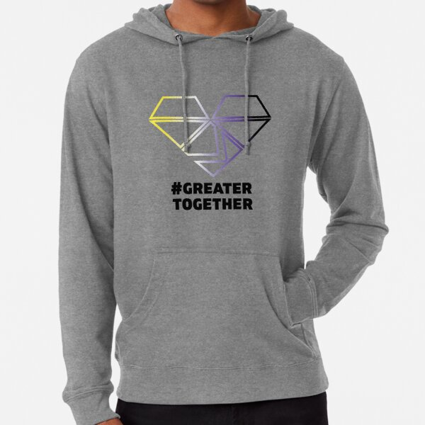 Nonbinary Pride - #GreaterTogether PRIDE Lightweight Hoodie