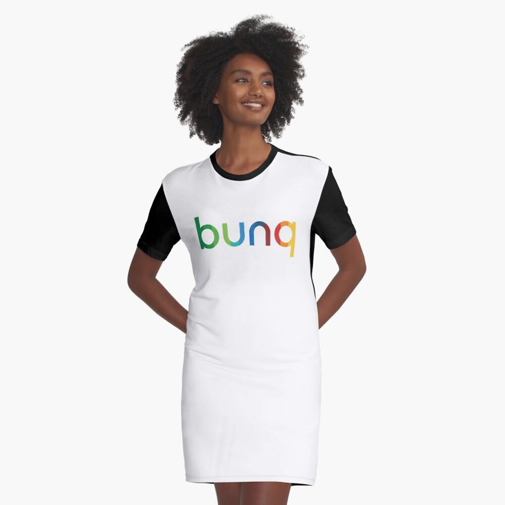 bunq Rainbow. Graphic T-Shirt Dress Front