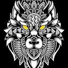 Ornate Wolf by GODZILLARGE