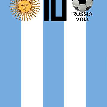 Argentina Soccer 2018 Russia Championship T Shirt by ravishdesigns