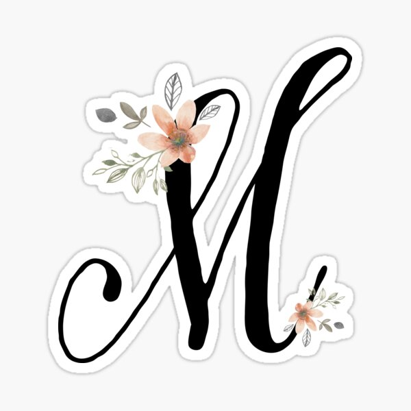 Monogram M Sticker
