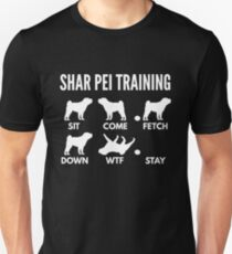 Shar Pei Training Shar Pei Tricks Unisex T-Shirt