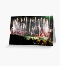 Invesco Fireworks 1 Greeting Card