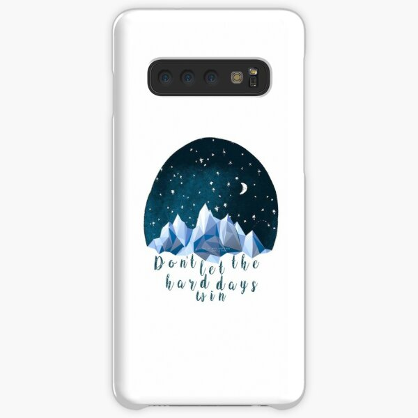 DON'T LET THE HARD DAYS WIN (geometric watercolor) Samsung Galaxy Snap Case