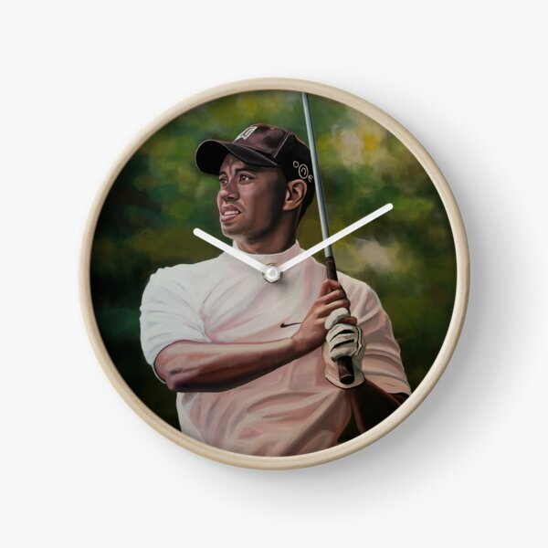 Tiger Woods painting Clock