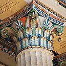 Painted Corinthian Column at Philadelphia Museum of Art by PixLifePhoto