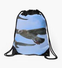 Many Seagulls Drawstring Bag