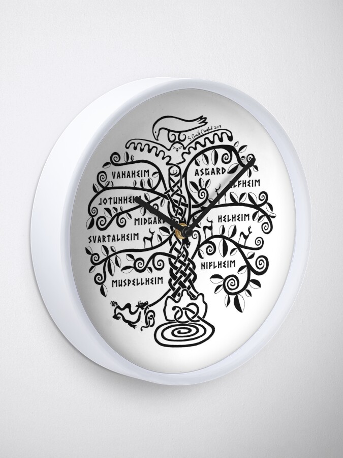 Alternate view of The World Tree - Yggdrasil Clock