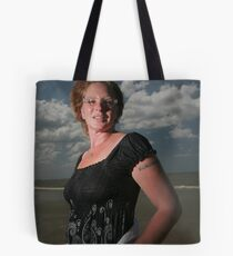 Woman on beach Tote Bag