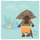 Playful Platypus and Rubber Ducky by flourishandflow