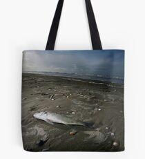 Fish on beach Tote Bag