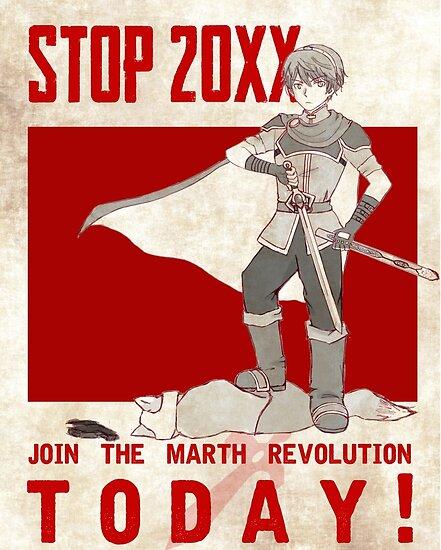 Marth Propaganda Poster von claywing
