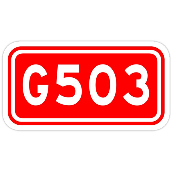 G503国道 | China National Highway Route Number Sign
