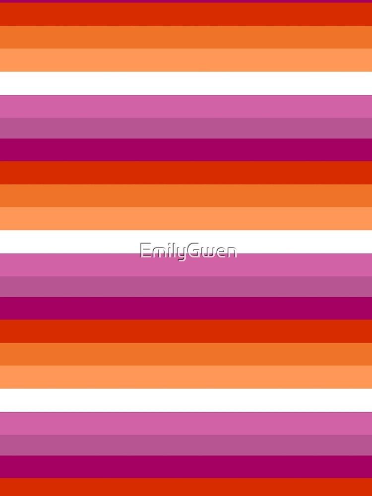 Orange - Magenta Linien // Lesben Pride Flag // Butch Femme Pride Flagge von EmilyGwen