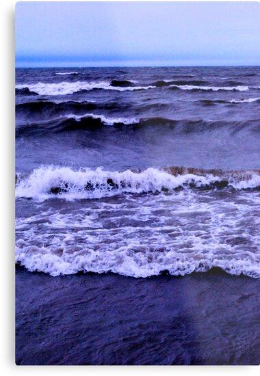 Lake Michigan Crashing Waves by bloomingvine