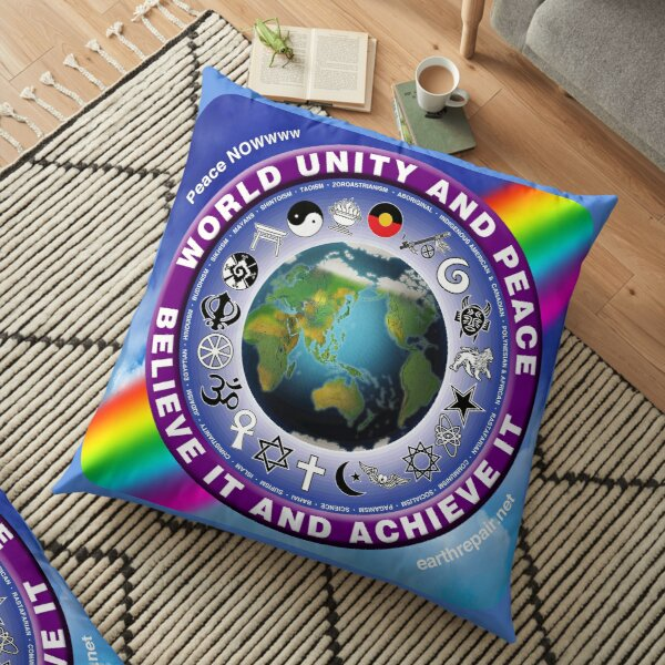 Historic World Unity and Peace Now and always. Floor Pillows Floor Pillow