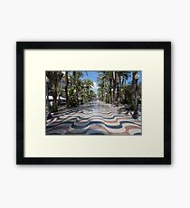 Alicante wavy pavement Framed Print